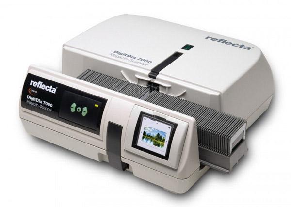Magazine scanner Reflecta DigitDia 7000: Automatic scanning of